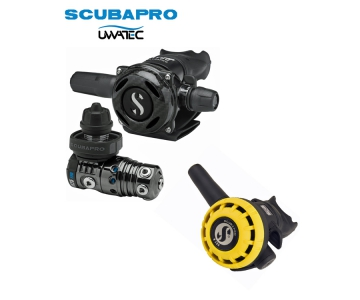 Dýchacia automatika Scubapro MK25 EVO Black Tech/ A700 Carbon Black tech/ R195 Octopus
