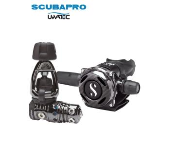 Dýchacia automatika Scubapro MK25 EVO Black Tech/ A700 Carbon Black tech